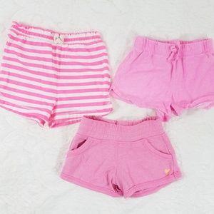 3 Pairs Girls 3T Soft Shorts